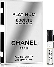 Духи, Парфюмерия, косметика Chanel Egoiste Platinum - Туалетная вода (пробник)