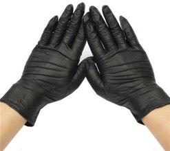 Духи, Парфюмерия, косметика Перчатки нитриловые, неопудренные, черные, размер M - Avenir Cosmetics