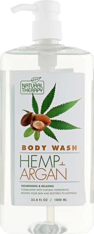 Гель для душа с экстрактом конопли и аргановым маслом - Natural Therapy Hemp + Argan Body Wash