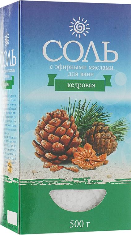 Соль морская с эфирным маслом кедр - Карапуз