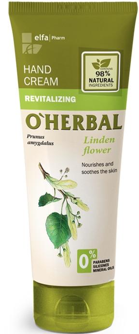 """Крем для рук """"Восстанавливающий"""" с экстрактом цветков липы - O'Herbal Revitalizing Hand Cream"""
