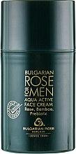 Духи, Парфюмерия, косметика Увлажняющий крем для мужчин - Bulgarska Rosa For Men Aqua Active Face Cream