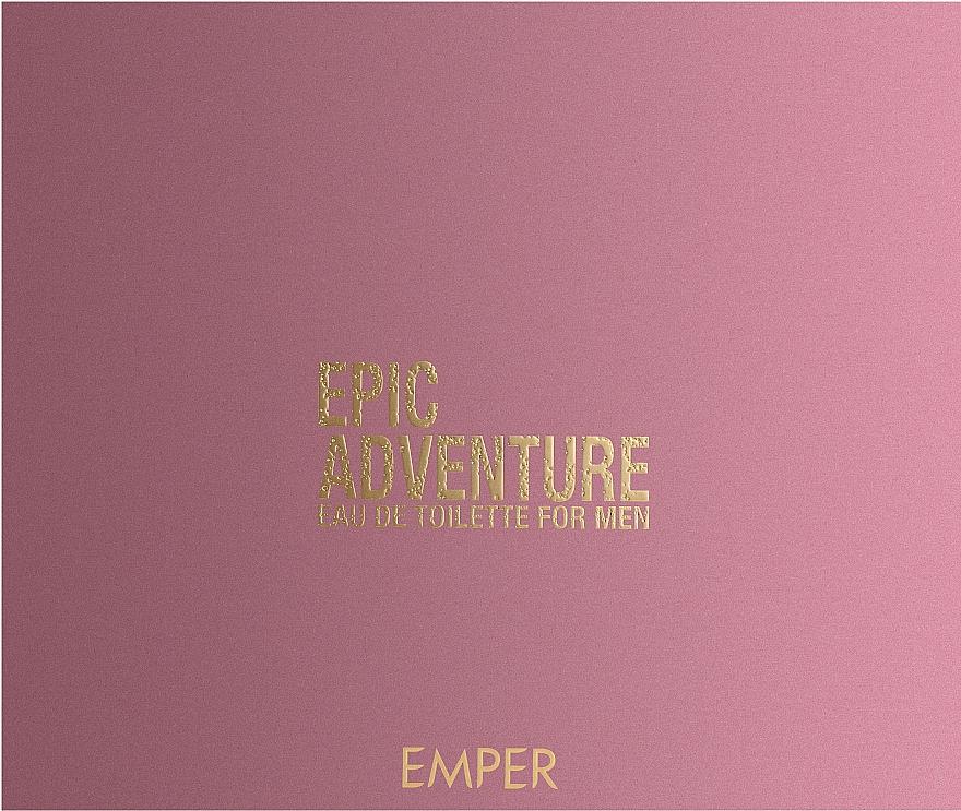 Emper Epic Adventure - Набор (edt/100ml + deo/200ml + sh/gel/100ml)