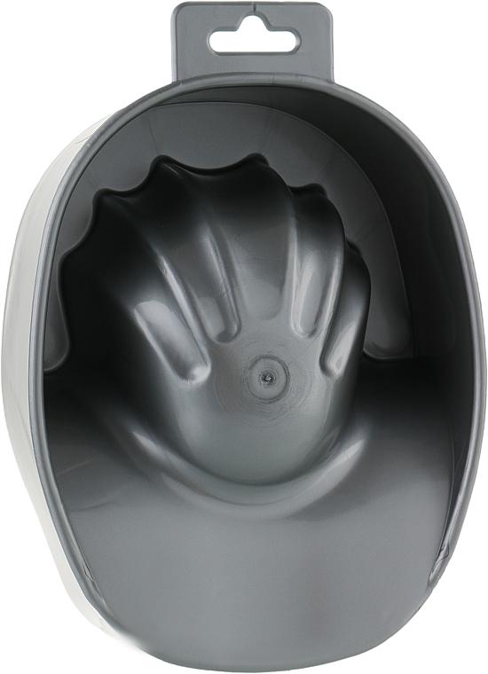 Ванночка маникюрная, серебряная - Vizavi Professional