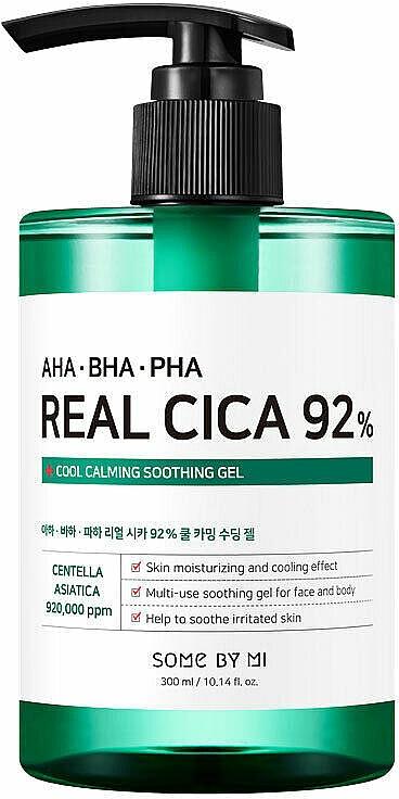 Гель многофункциональный успокаивающий с кислотами - Some By Mi AHA BHA PHA Real Cica 92% Cool Calming Soothing Gel