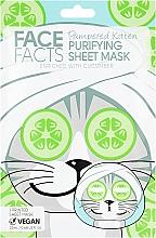 Духи, Парфюмерия, косметика Тканевая маска для лица - Face Facts Cucumber Purifying Sheet Mask