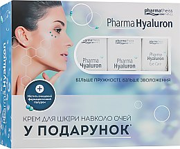 Духи, Парфюмерия, косметика Набор «Дневной и ночной кремы + Крем под глаза в подарок» - Pharma Hyaluron Pharmatheiss № 1 (cr/50ml + cr/50ml + eye/cr/15ml)
