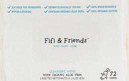 Духи, Парфюмерия, косметика Очищающие салфетки с органическим алоэ, 72шт - Fifi & Friends Cleansing Wipes with Organic Aloe Vera