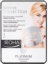 Духи, Парфюмерия, косметика Увлажняющая маска - Iroha Divine Collection Platinum & Hyaluronic Acid