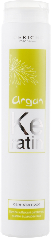 Ухаживающий бессульфатный шампунь - Periche Professional Keratin Argan Care Shampoo