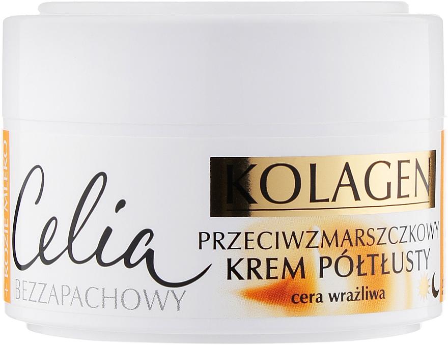 Крем от морщин для чувствительной кожи лица - Celia Collagen Cream