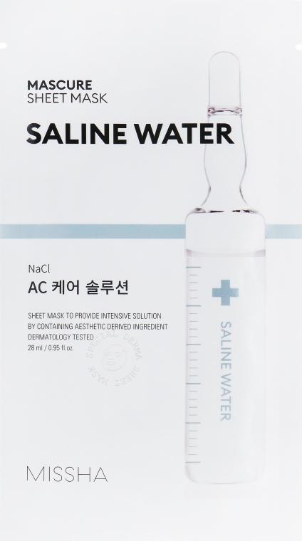 Увлажняющая маска для лица с экстрактом соленой воды - Missha Mascure AC Care Solution Sheet Mask Saline Water
