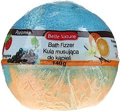 Духи, Парфюмерия, косметика Бурлящий шарик для ванной, оранжево-голубой - Belle Nature Bath Fizzer