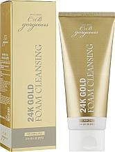 Духи, Парфюмерия, косметика Пенка для умывания с компонентами золота - Aomi 24K Gold Foam Cleansing