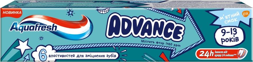 Зубная паста 9-12 лет - Aquafresh Advance Mint Boost