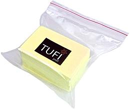 Духи, Парфюмерия, косметика Безворсовые салфетки желтые 4х6, 70 шт - Tufi Profi