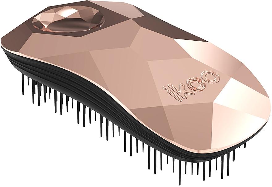Расческа для волос - Ikoo Home Black Gold Digger Light Pink