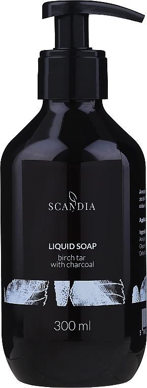 """Жидкое мыло """"Березовый деготь и активированный уголь"""" - Scandia Cosmetics"""
