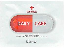 Духи, Парфюмерия, косметика Антивозрастная тканевая маска для лица - L`arvore Daily Care Mask Wrinkless