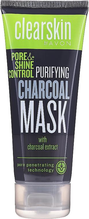 Маска для лица с активированным углём - Avon Clearskin Pore & Shine Control Purifying Charcoal Mask
