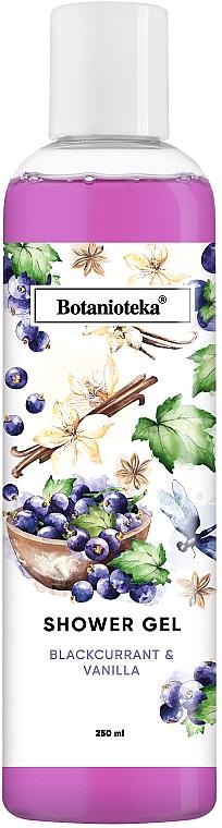 """Гель для душа """"Чёрная смородина и Ваниль"""" - Botanioteka"""