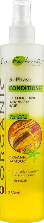 Кондиционер двухфазный для волос - La Fabelo Organic Macadamia & Argan Oil
