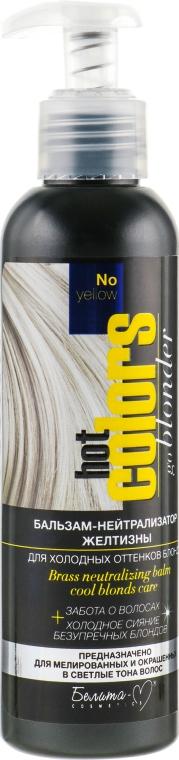 Бальзам-нейтрализатор желтизны для холодных оттенков блонд - Белита-М Hot Colors No Yellow Balm