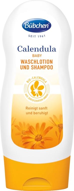 """Крем-гель для мытья волос и тела """"Календула"""" - Bubchen Calendula Washing Lotion And Shampoo"""