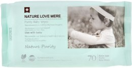 Духи, Парфюмерия, косметика Детские влажные салфетки - Nature Love Mere Purity