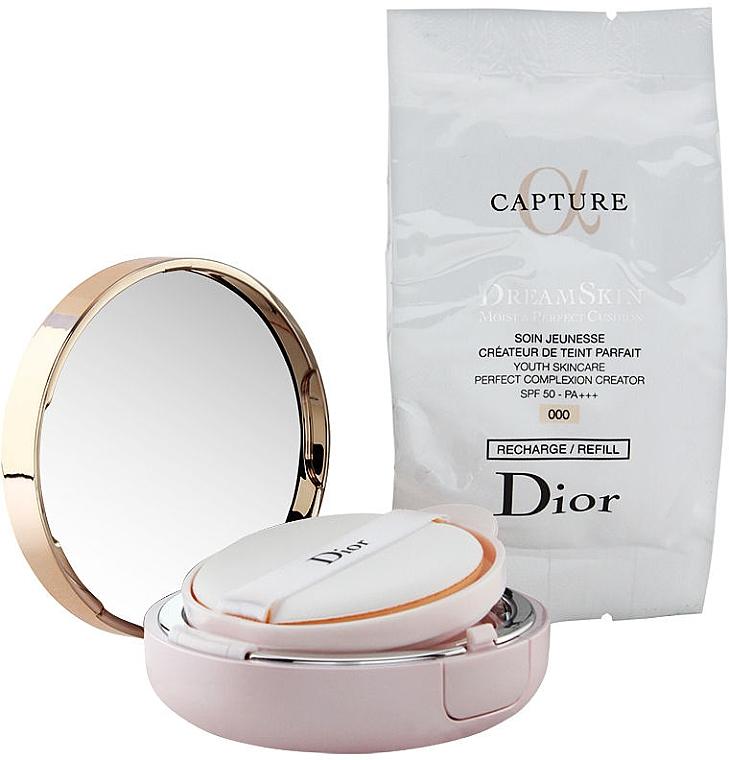Тональный кушон - Dior Capture Dreamskin Moist & Perfect Cushion SPF 50 PA+++ with Refill