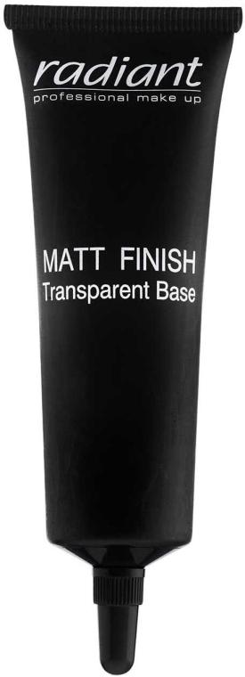 Основа под макияж матирующая - Radiant Matt Finish Transparent Base