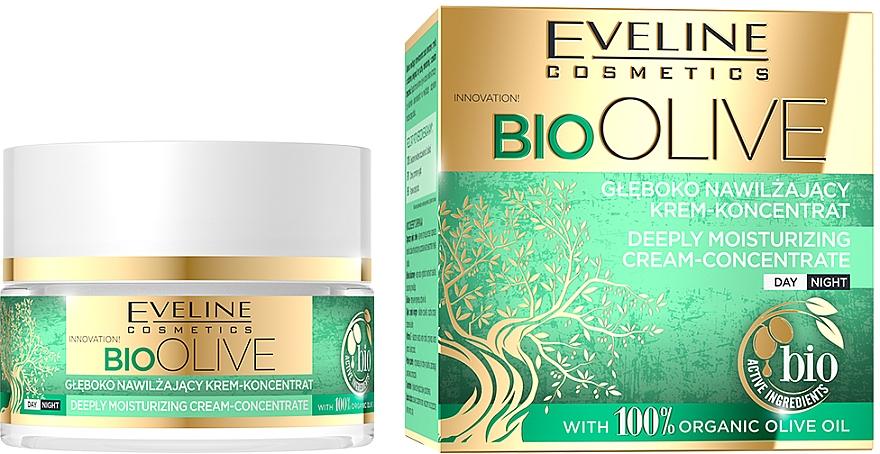 Крем-концентрат для лица глубокого увлажнения - Eveline Cosmetics Bio Olive Deeply Moisturizing Cream-concentrate