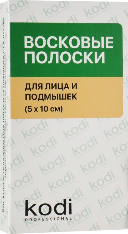 Восковые полоски для лица и подмышек, 5 х 10 см - Kodi Professional
