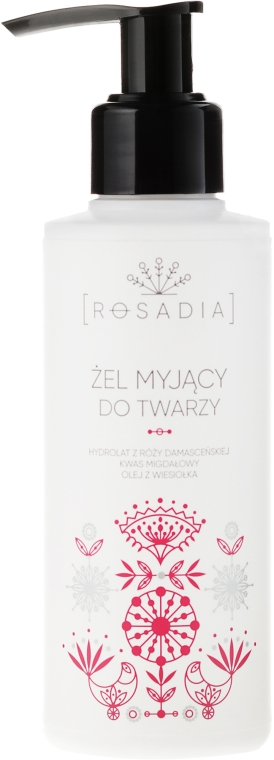 Гель для умывания с гидролатом дамасской розы - Rosadia
