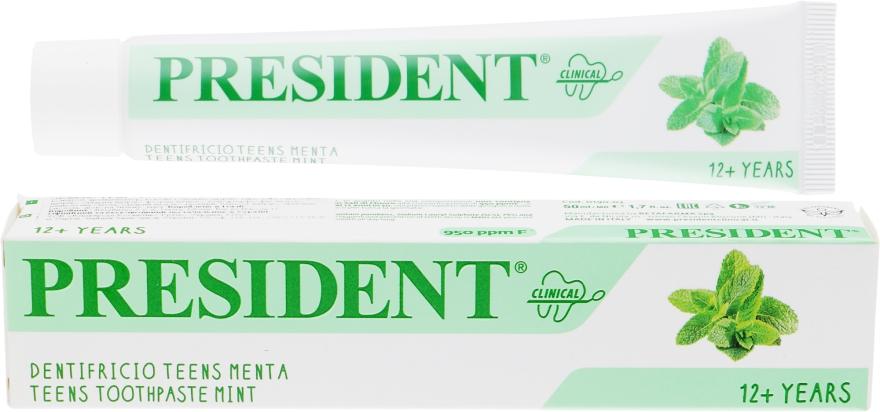 Зубная паста с мятой - PresiDENT Clinical Teens