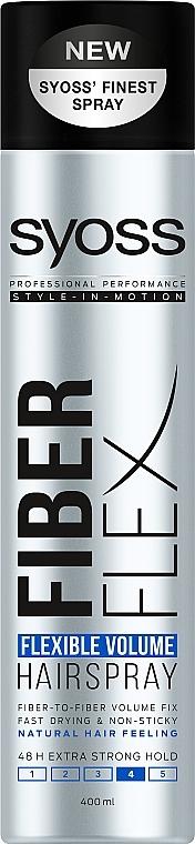 """Лак для волос """"Flexible Volume"""", экстрасильная фиксация - Syoss Fiber Flex"""