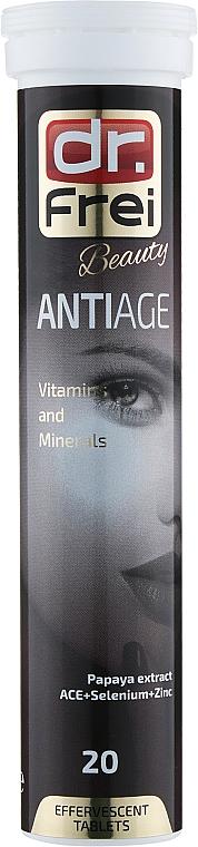 """Витамины шипучие """"Анти-эйдж"""" (витамины А, С, Е + цинк + селен + папайя) - Dr. Frei Beauty AntiAge"""