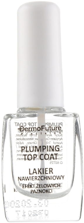 Лак для ногтей с гель-эффектом - Dermo Future Precision Plumping Top Coat — фото N2