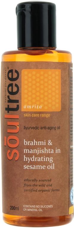 Органическое антивозрастное масло для тела с брахми, нимом и увлажняющим кунжутным маслом - Biofarma Soultree