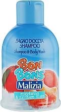 Духи, Парфюмерия, косметика Шампунь-гель для душа Mandarino & Zucchero Filato - Malizia Bon Bons Shampoo & Body Wash