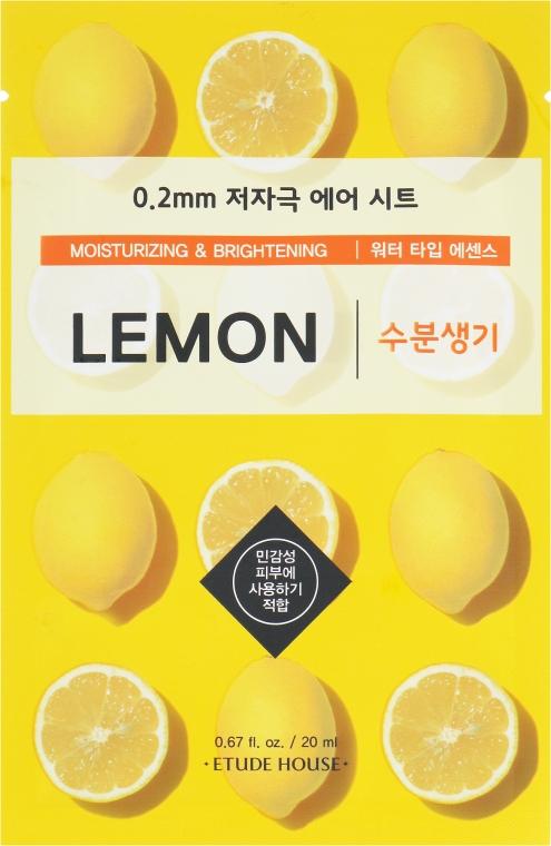 Ультратонкая маска для лица с экстрактом лимона - Etude House Therapy Air Mask Lemon