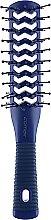Духи, Парфюмерия, косметика Двусторонняя туннельная щетка для волос, синяя - Comair