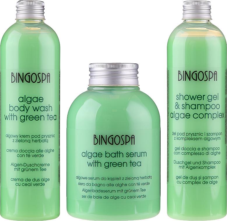 Набор - BingoSpa Green Set (bath/foam/500ml + shm/300ml + sh/gel/300ml)