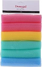 Духи, Парфюмерия, косметика Бигуди-папильотки, широкие,9253 разноцветные, 6 шт - Donegal Sponge Rollers
