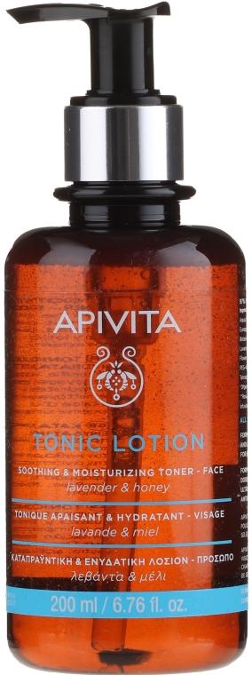 Успокаивающий и увлажняющий тоник для кожи с лавандой и медом - Apivita Tonic Lotion Soothing & Moisturizing Toner