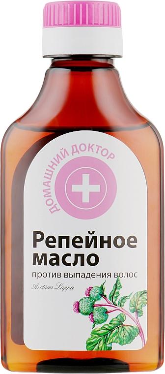 Репейное масло против выпадения волос - Домашний Доктор