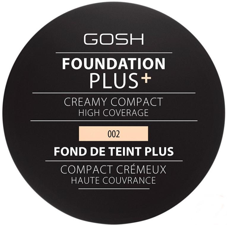 Компактный тональный крем - Gosh Copenhagen Foundation Plus+ Creamy Compact High Coverage