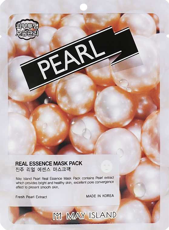 May Island Real Essence Pearl Mask Pack - Маска для лица тканевая: купить по лучшей цене в Украине | Makeup.ua