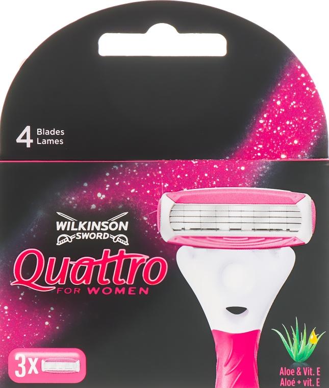 Сменные кассеты для бритья, 3 шт. - Wilkinson Sword Quattro Women