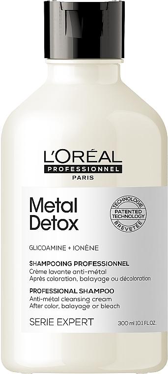 Профессиональный очищающий шампунь против металлических накоплений в волосах - L'Oreal Professionnel Serie Expert Metal Detox Anti-metal Cleansing Cream Shampoo